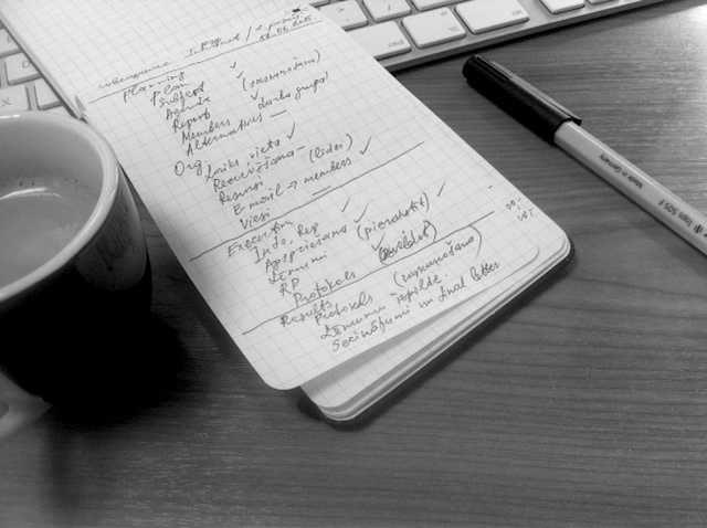 Checklist for meeting planning and execution